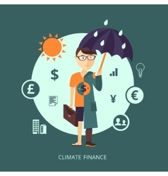 Concept of Climate finance vector image