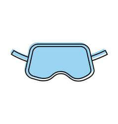 Cover sleeping eyes icon vector