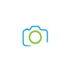 Creative abstract camera logo design symbol vector