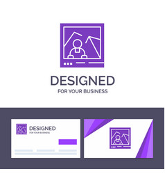 Creative business card and logo template picture vector