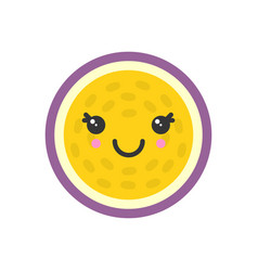 cute smiling exotic passion fruit isolated vector image