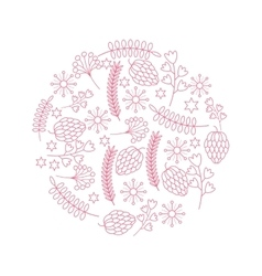 decorative ornament of leaves and branches vector image