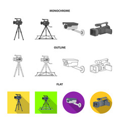 Design camcorder and camera sign vector
