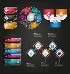 Digital business infographic design vector