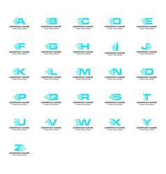 digital font initial letter logo vector image
