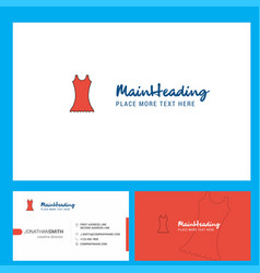 dress logo design with tagline front and back vector image