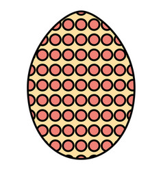egg painted dotted happy easter vector image