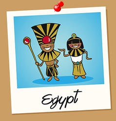 Egypt travel polaroid people vector