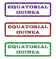 Equatorial guinea watermark stamp vector