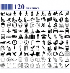 Everyday icons vector