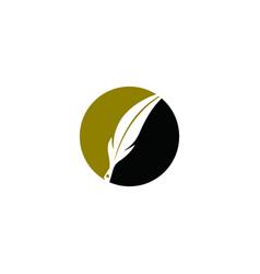Feather pen logo feather pen logo vector