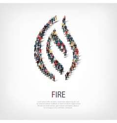 fire people sign 3d vector image