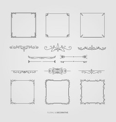 floral and decorative set vector image