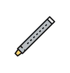 flute sopilka clarinet bassoon color line icon vector image
