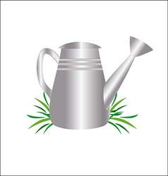 Garden watering can drawing vector