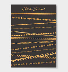 Gold chains variety set poster vector