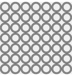 Greek minimal monochrome black and white pattern vector image