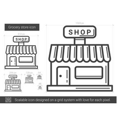 grocery store line icon vector image