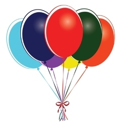 Group of multi colored balloons vector image