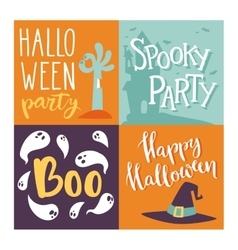 Halloween invitation cards vector