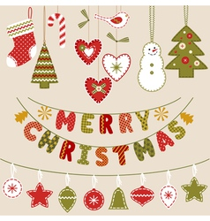 Handmade Christmas decoration vector image