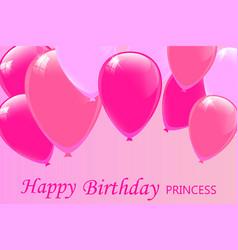 Happy birthday princess lettering vector