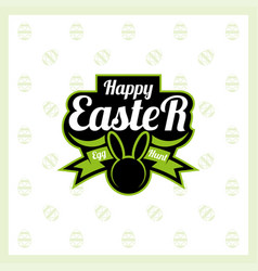 Happy easter logo vector