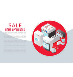 Home appliances and electronics sale discounter vector