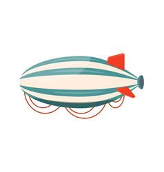 hot air airship travel summer vector image