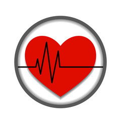 icon about heart health isolated vector image
