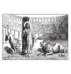 ignatius of antioch is martyred by being fed to vector image
