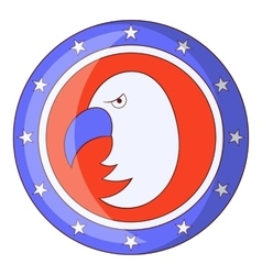 Independence day eagle icon cartoon style vector