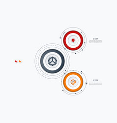 Infographics template 2 options with circle vector
