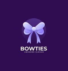 logo bowtie gradient colorful style vector image