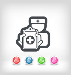 medical document vector image