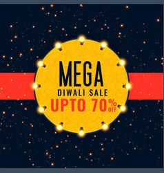 mega diwali sale festival background vector image