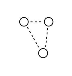 molecular triangle icon vector image
