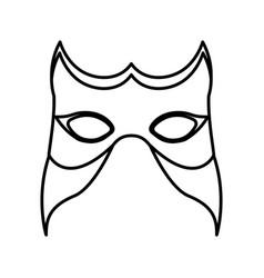 Monochrome silhouette of festival mask vector