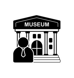 Museum guide vector