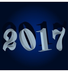 New year 2017 Winter background vector image