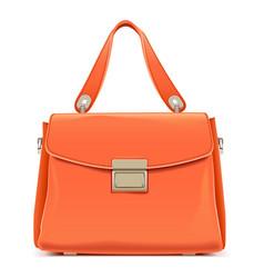 Orange female handbag vector