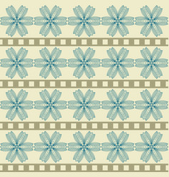 pattern with abstract geometric flowers vector image