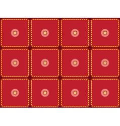 Pattern with sewed pieces of fabric vector