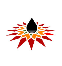 petroleum development company oil vector image