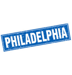 Philadelphia blue square grunge vintage isolated vector