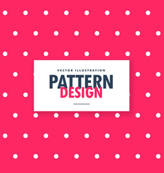 pink polka dots pattern background vector image