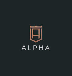 premium monogram letter a initials logotype vector image