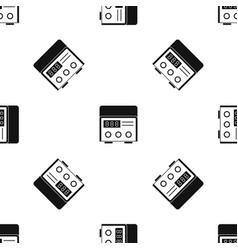 Professional tattoo machine pattern seamless black vector