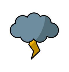 rainy weather symbol vector image