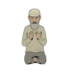 Ramadan prayer vector
